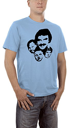 Touchlines Magnum P.I. T-Shirt, Skyblue S