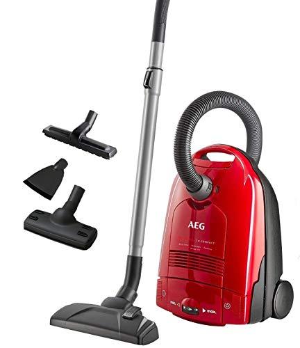 AEG VX3-1-WR-A Bodenstaubsauger (Entfernung von Tierhaaren auf Polstermöbeln, Energieklasse A, 700 Watt, Beutelstaubsauger) Rot
