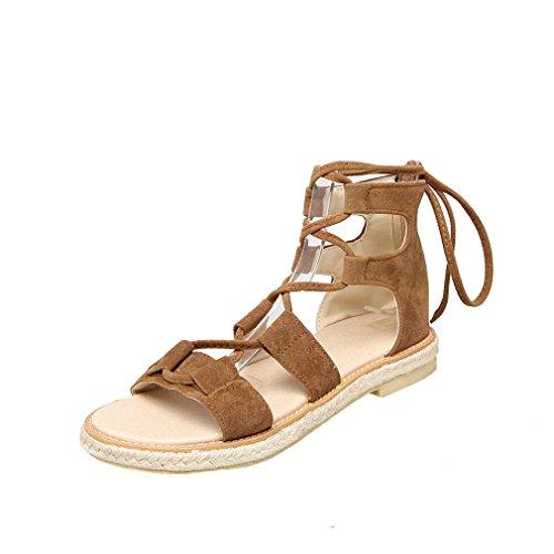 Damen Open Toe Sandalen Bequeme Römersandalen Schnüren Schuhe