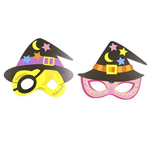 inder Halloween Masken Cosplay Papier Masken Halloween Party Requisiten (Piraten und Krone Muster für Jedes 6 stücke) ()