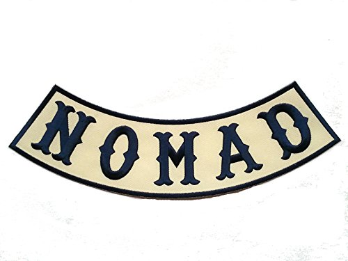 Preisvergleich Produktbild Nomad Biker Bottom /Side Rocker Off White /Navy Outlaw Anarchy Biker Patch [10 X 2.25 Inches]