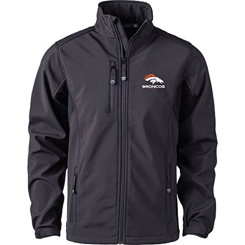 NFL Denver Broncos Herren Softshell Jacke, X-Large, Schwarz (Broncos Jacke)