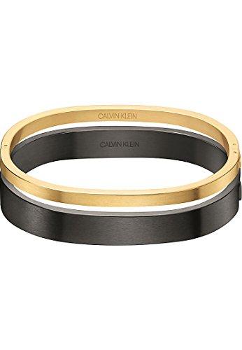 Kleine Gold Armband (Calvin Klein Damen-Armband Hook Edelstahl One Size, gold/schwarz)