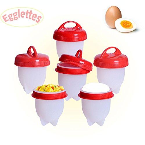 Cocedor Huevos 6 Pcs,Egg Cooker Hard & Soft Maker Hervidor De Huevo Silicona Antiadherente Hacer Huevo Vapor Sin Cascara Sin Bpa,Salud Y Seguro Huevos Escalfados Cocedor Egglettes