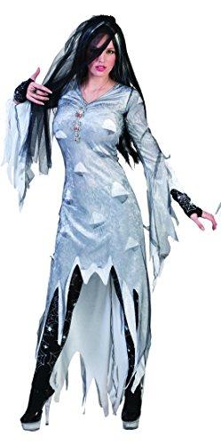 Perücke Monster Kostüme Braut (erdbeerclown - Damen Halloween Karneval Kostüm Geister Braut Set, Scream , XL,)