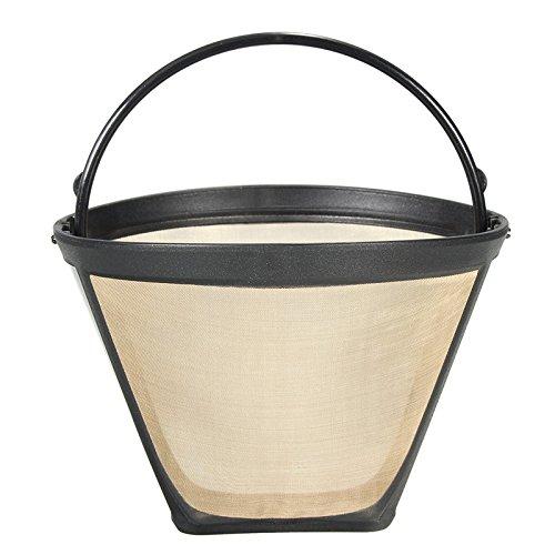 Wuchance Permanent Wiederverwendbare # 4 Kegel Form Kaffee Filter Mesh Basket Gold Ton Kaffee Zubehör Küche liefert