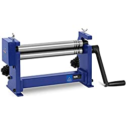 MSW Cintreuse À Rouleaux Machine Presse Cintrer Manuelle MSW-SJ300 (Épaisseur Max. 1 mm, Largeur Max. 310 mm, Espacement Réglable, Avec/Sans Fixation Par Vis/Étau)