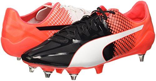 Puma Men    s Evospeed 1 5 Tricks Mixed SG Football Boots  Schwarz Black White-Red Blast 03  9