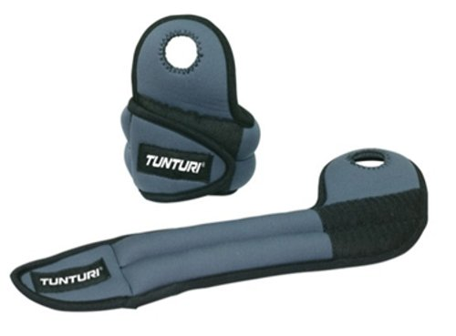 Tunturi Wrist Weights, 1kg x 2 (Grey)