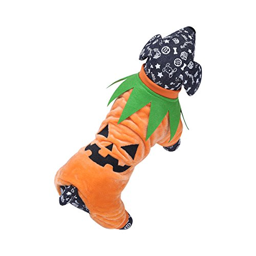 Imagen de iefiel disfraz para perro gato mascota cachorro de calabaza chaqueta graciosa ropa traje de fiesta perrito halloween naranja xxl