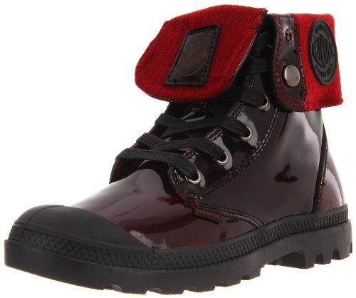 Palladium BAGGY LEATHER KNIT 92755-616-M, Damen Stiefel, Rot (MIDNIGHT RED), EU 37 (UK 4) (Knit Leather Baggy)