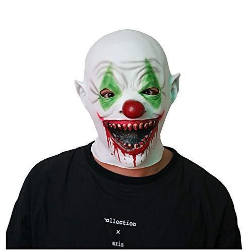 Maske YN Scary Clown Scary Spukhaus Kopfbedeckung Teufel Adult Male Zombie Tricky Gesicht Halloween Vampire
