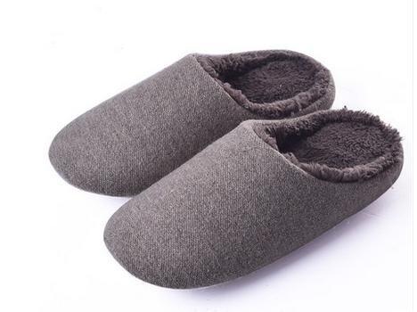 &zhou Automne et hiver Accueil chaussons coton intérieur de la maison à fond épais anti - pantoufles de dérapage MENBROWN