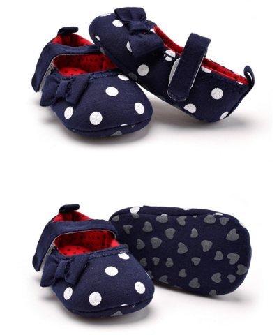 Ohmais Enfants Chaussure Bebe Garcon Fille Premier Pas Chaussure premier pas bébé Sandale en tissu souple Bleu