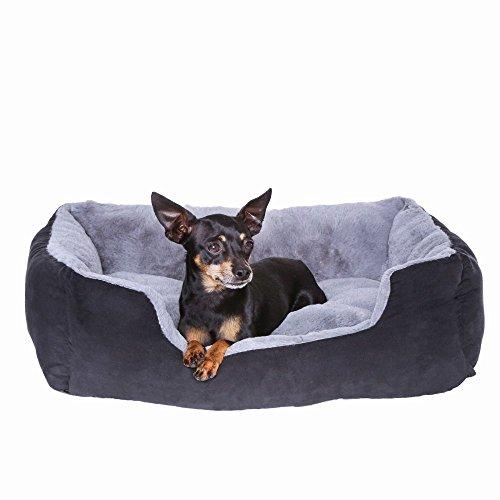 dibea DB00521 – Hundebett – Hundekissen – Hundesofa mit Wendekissen (Größe und Farbe wählbar) - 3