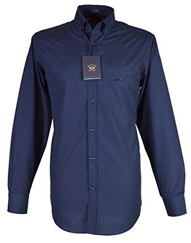 Paul & shark camicia casual - con bottoni - maniche lunghe - uomo navy medium