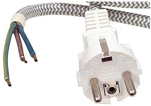 Preisvergleich Produktbild Eurosell - Profi Gewebe Anschlusskabel Strom Kabel zb für Bügeleisen Retro Radios Lampen