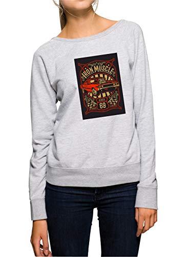 Certified Freak Iron Muscle Sweater Girls Grey M -
