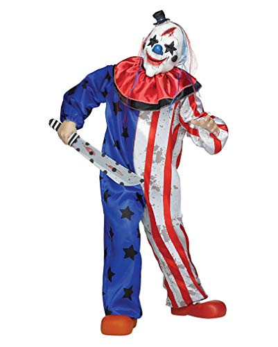 (Horror Clown Kinderkostüm mit Maske für Halloween L)