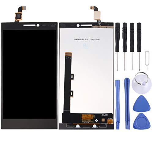 YCZLZ Display-Touch Screen für Lenovo Handy-Zubehör LCD-Bildschirm und Digitizer Vollversammlung for Lenovo Vibe Z2 (Schwarz) + Tools (Farbe : Black)