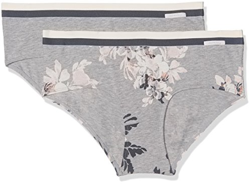 Skiny Damen Panties Sporty Cotton Mix Panty Dp, 2er Pack Mehrfarbig (Flower Selection 1149)