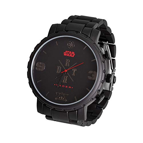 Star Wars Reloj de Pulsera Darth Vader analógico Negro