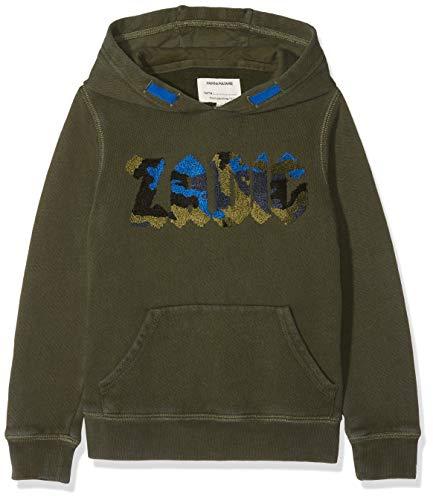 ZADIG&VOLTAIRE A, Sweat-Shirt àCapuche Garçon, Vert (Uniformgreen 665.0), Taille Fabricant: 12A