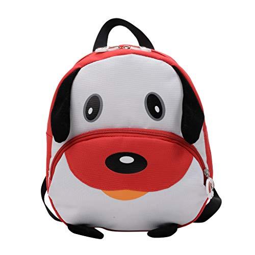 Mitlfuny handbemalte Ledertasche, Schultertasche, Geschenk, Handgefertigte Tasche,Kinder Baby Mädchen Jungen Kinder Cartoon Hund Tier Rucksack Kleinkind Schultasche
