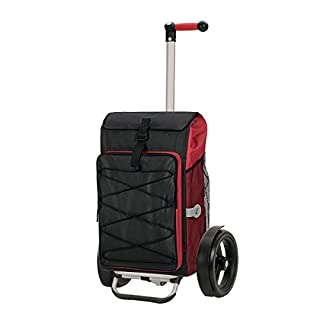 Andersen shopping trolley Tura with bag Thor red, Volume 69L, thermal bag, ball-bearing wheels and aluminium frame