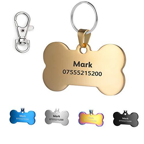 KSZ Etiquetas de identificación para Mascotas de Acero Inoxidable, Etiquetas Personalizadas para...
