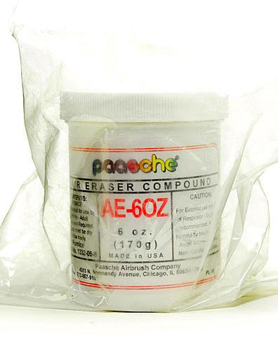 Paasche AEC Air Eraser and Compounds (Ae Compound for Slow Cutting and Cleaning) - 6 oz. 2 pcs sku# 1835062MA by Paasche (Paasche Air-eraser)