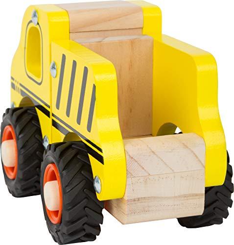 small foot 11096 Einsatzfahrzeug Baufahrzeug aus Holz, mit Ladefläche und gummierten Rädern, ab 18 Monaten - 4
