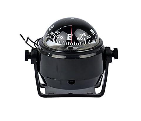 Hikenn 12V LED Digital Kompass Boot Caravan LKW Kompass Kugelkompass Schwarz