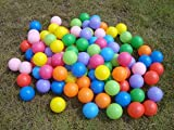 41%2BNOmO2fBL. SL160  - BEST BUY# FUN HOUSE STYLE KIDS CHILDRENS PLASTIC PLAY BALLS FOR BALL PITS PEN POOL MULTI COLOURED TOY SOFT - COMES IN A SET OF 100, 200, 300, 400, 500, 600, 700, 800, 900, 1000. (100) Reviews and price compare uk