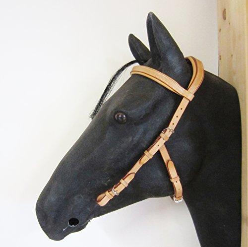 """Kopfstück - Anatomic Bridle """"Arrimar"""" für Gebisslose Zäumungen & Trensen Größe Pony - Farbe Braun"""