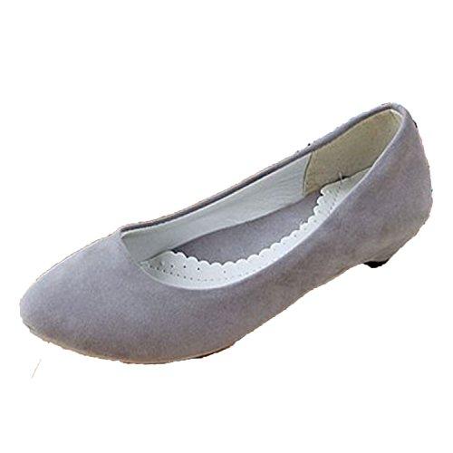 Nonbrand Damen Absatz Ballerinas Grau
