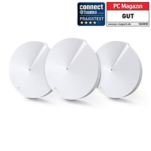 TP-LINK Deco P7 (3-Pack) - Sistema de solución AC1300 + AV600 WLAN (Completa Powerline Hybrid, Control de Padres Homecare, 2 Puertos Gigabit, 1 Puerto USB, Funciona con Amazon Alexa e IFTTT)