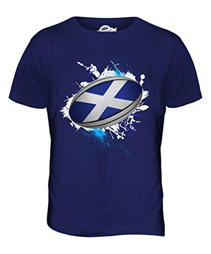 CandyMix Schottland Rugby Ball Herren T Shirt Navy Blau