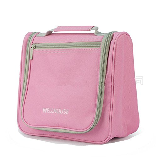 GBT Wasserdichte Toilettenartikel Kits Männer Frauen reisen wesentliche kosmetische Beutel Carolina Pink