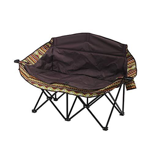 LIUQIAN Camping-Stühle Outdoor Klappstuhl großen Doppel Mond Stuhl Liege faul Stuhl Camping Freizeit Doppel Strand Chai - Doppel-liege Stuhl