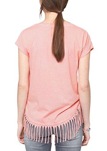 s.Oliver Damen T-Shirt mit Fransendetails Rosa (salmon 4282)