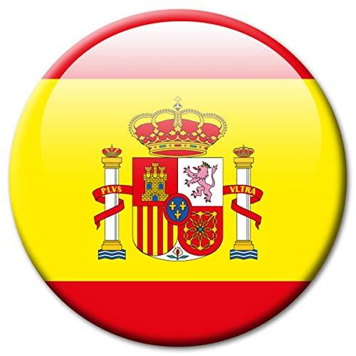Kühlschrankmagnet Flagge Spanien Magnet Länder Flaggen Reise Souvenir für Kühlschrank stark groß 50 mm -