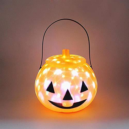 Winpavo Halloween-Deko Halloween Party Requisiten 1Pc Halloween Kids Pumpkin Lantern Light Con Tapa Decoración De Fiesta En Casa Halloween Lámpara Linda Calabaza