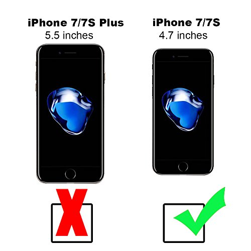 """xhorizon FM8, 360 Grad Schutz 2-1 duenne Huelle mit passendem Glasbildschirmschutz fuer Apple iPhone 7 [4.7""""] (Rose Gold) schwarz"""
