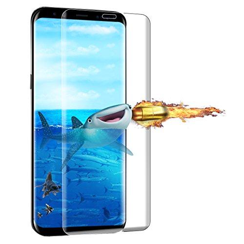 Galaxy S8 Plus Protector de Pantalla 3D Cobertura Completa BIGMEDA Cristal Templado Galaxy S8 Edge Screen Protector Ultra Delgada y Alta Sensibilidad al Tacto[Alta Definicion]Pantalla S8 Plus Ajuste Perfecto Protector S8 Plus Cristal Vidrio Templado Compatible Funda