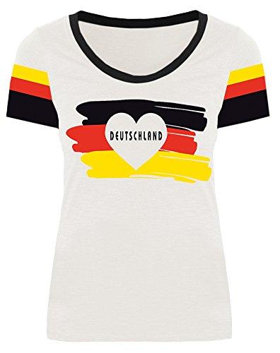 WM 2018 2018 Damen Deutschland Fußball Team Außen Sport Party Fan T Shirt Trikot Germany Motiv 4 S Fan Shirt Trikot