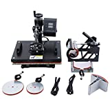 Ridgeyard 5 in 1 Heat Press Machine Digital Transfer Sublimation Mug T-Shirt Plate