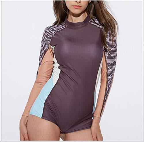 He-shop Damenbadebekleidung, One Piece Floral Print Printed Badeanzug Tauchen Beachwear Abnehmen Vintage Schwimmen Kostüm XL