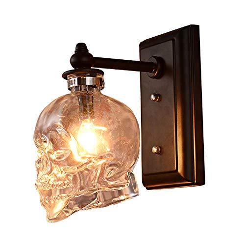andleuchte Schädel-Flasche Wandlampen, Vintage Loft Dekorative Beleuchtung Totenkopf Wandleuchten für Home Decoration, Bar, Cafe, Restaurant ()