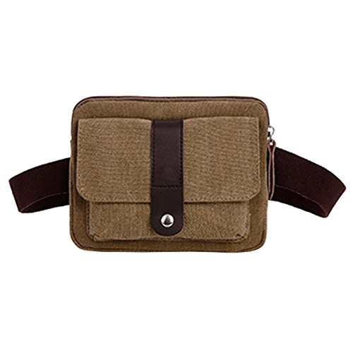 THEE Canvas Handy Taille Tasche Sports Mini Tasche Khaki